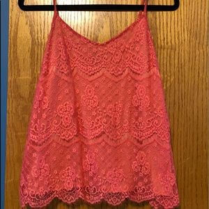 Coral Lace tank from Maurices